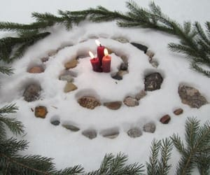 snow, winter, and yule image