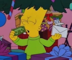 christmas, money, and simpsons image