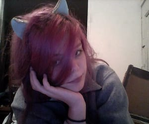 cat, ears, and emo image