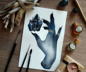 artist, black, and crystal image