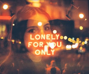 lonely, aesthetic, and orange image
