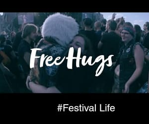 festival, free hugs, and music image