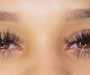 brown eyes, eyelashes, and lash extensions image