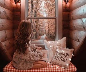 cozy, girl, and nature image