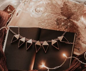 book, flowers, and christmas image