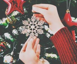 christmas, holiday, and snowflake image