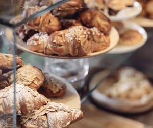 bakery, brioche, and croissant image