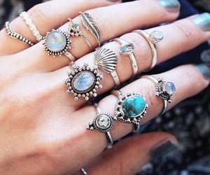 rings, accessories, and nails image