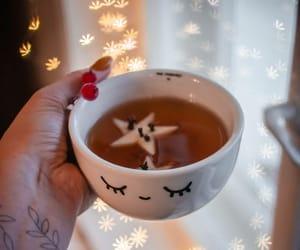 cappuccino, christmas, and christmas lights image