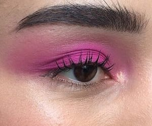 pink, aesthetic, and eyeshadow image