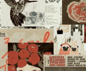 Collage, journal, and vintage image