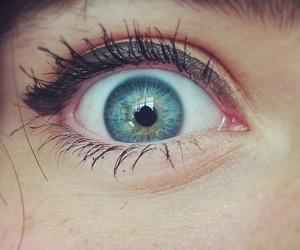 blue eyes, eyes, and mascara image
