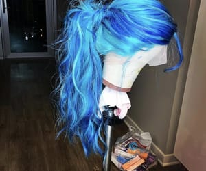 blue, hair, and pretty image