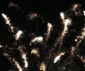 black, fireworks, and dark image