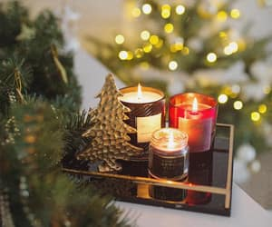 candle, green, and xmas image
