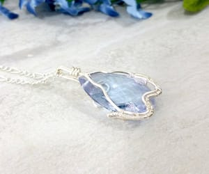 crystalnecklace, pendantnecklace, and wirewrappedjewelry image