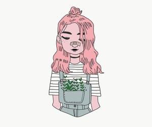 disegno, girl, and ragazza image