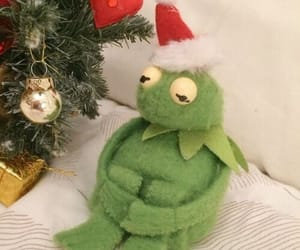 kermit, christmas, and aesthetic image