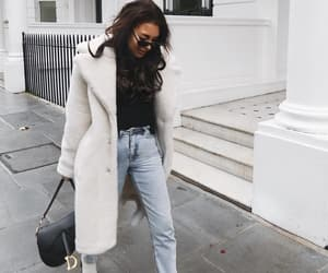 fashion, ootd, and teddy coat image