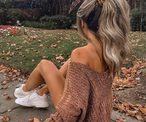 hair, autumn, and blonde image