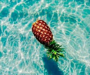 ananas, blue, and turquoise image