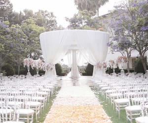 aisle, beauty, and ceremony image