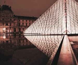 france, lights, and louvre image