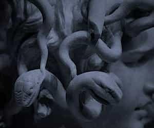 medusa, art, and sculpture image