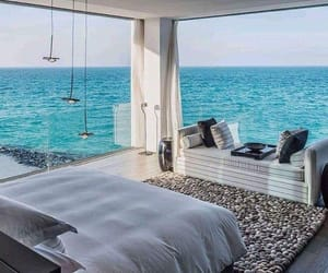 bedroom, sea, and beach image