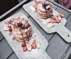 food, pancakes, and pink image