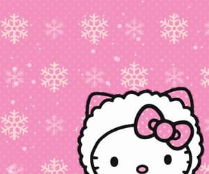 hello kitty, wallpaper, and winter image