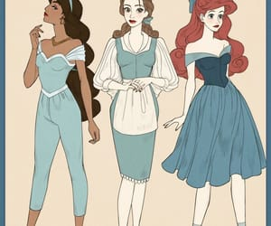 ariel, belle, and disney image