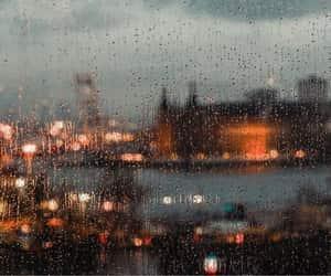 rain, city, and autumn image