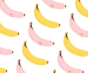 banana, pattern, and pink image