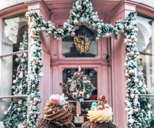 christmas, winter, and cupcake image