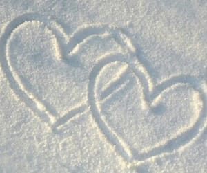 snow, love, and heart image