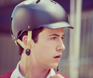 clay, helmet, and 13 reasons why image