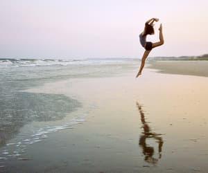 dance, girl, and sea image