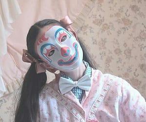 cute girl, kawaii, and mask image