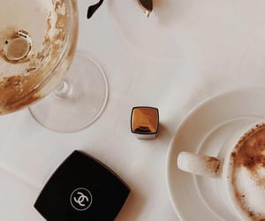 chanel, coffee, and glass image