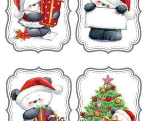 holiday, panda, and present image