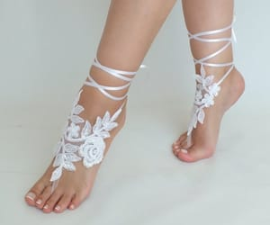 etsy, bridal shoes, and barefoot sandals image