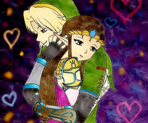 link, love, and zelda image