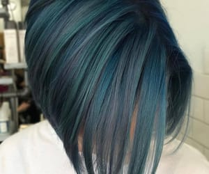 alternative, blue hair, and bob image