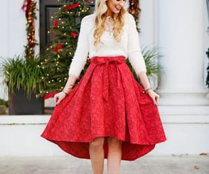 christmas, outfit, and red image