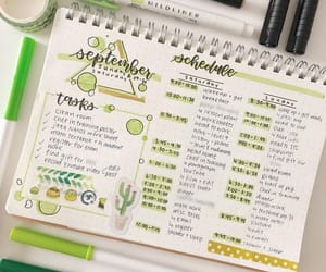 green, journaling, and planner image