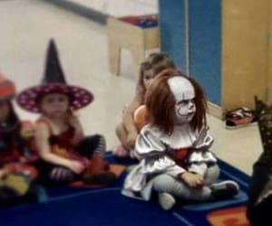 clown, costume, and creepy image