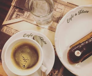 cafe de flore, chocolate, and coffee image