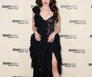 black dress, dress, and Teen Vogue image