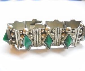 etsy, silver bracelet, and boho hippie image